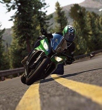 Ride moto curva