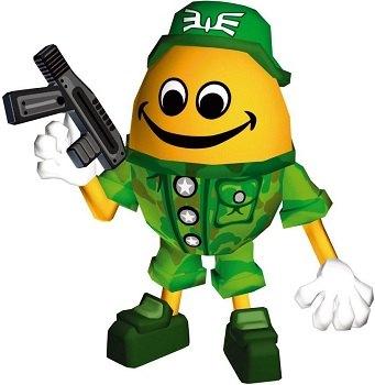 Chibi-Robo ejército huevo