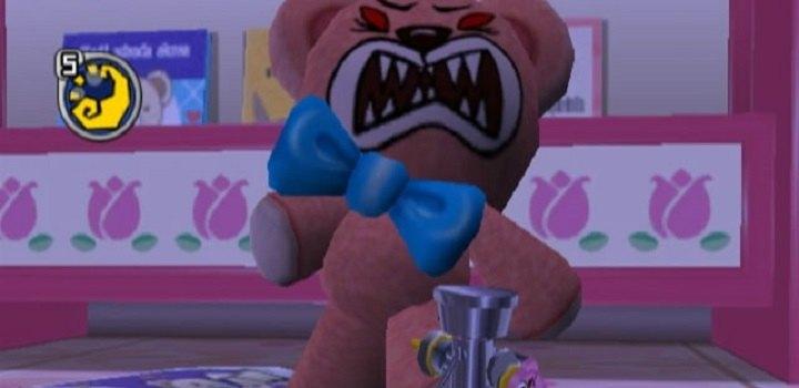 Chibi-Robo teddy bear attack