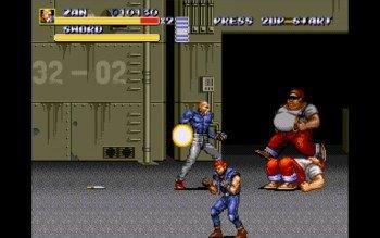 Streets of Rage III - Zan contra varios enemigos