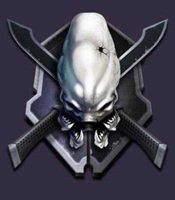 El famoso símbolo del nivel de dificultad Legendario en Halo