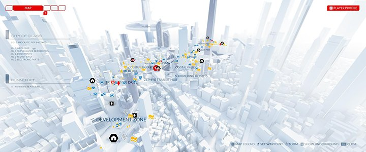Mirror's Edge Catalyst Mapa