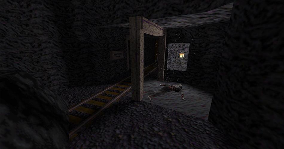 Uno de los cadáveres en la mina bajo la prisión