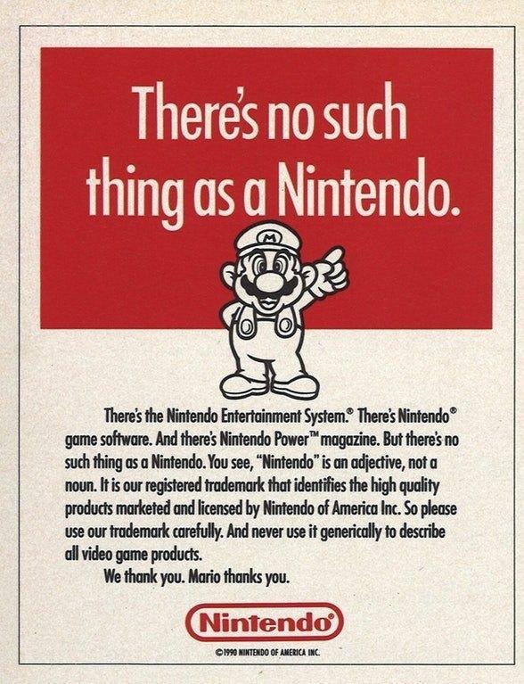 Nintendo carta tiendas