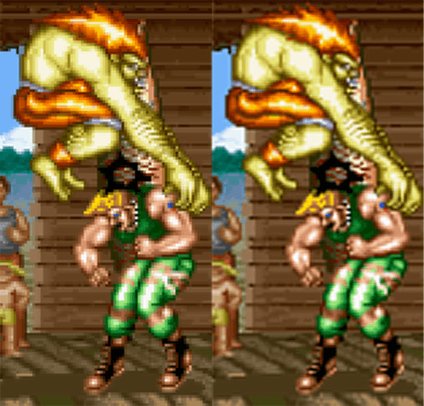 Street Fighter Pantallas CRT Filtros