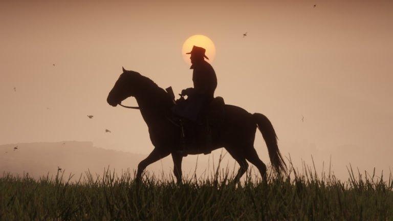 Red Dead Redemption galopando